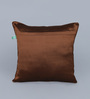 Eyda Teal Polyester 16 x 16 Inch New Pleat Cushion Cover