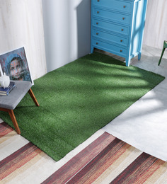 Ezeegrass Green Polypropylene 96 x 60 Inch Rectangular Area Rug