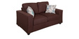 Fabio Sofa Set (3+2) Seater in Chocolate Color by Evok