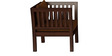 Falcon Teak Wood Sofa Set (3+1+1) in Mahogany Finish by CasaTeak