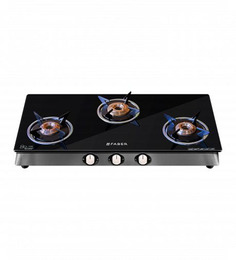 Faber Eco Crystal Glass Top 3-burner Cooktop (Model: 300 CT-HE)