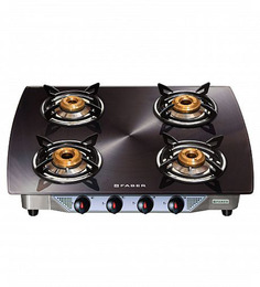 Faber Crystal Black Glass Top 4-burner Cooktop (Model: 400 CT-DG)