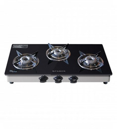 Faber Eco Crystal Glass Top 3-burner Cooktop (Model: 30 CT-AI)