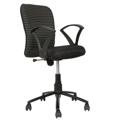 Ergonomic Low Back Chair in Black Colour by Star India