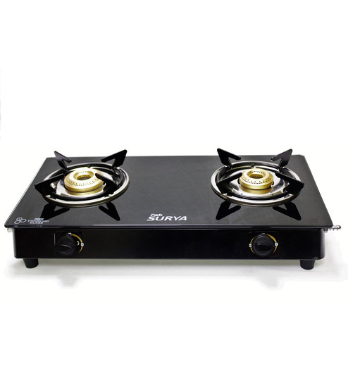 Fabsurya 2-Burner 7 MM Toughened Glass Top - Gas Stove