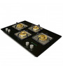 Faber Brass and Glass 4-burner Glasstop Hob (Model: HGG 754CRS BR CI)