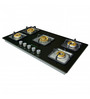 Faber Brass and Stainless Steel 5-burner Hob (Model: HGG 905CRS BR CI)