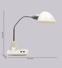 Fabricio Study Lamp in White by CasaCraft
