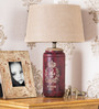 Fabuliv Beige Jute Vintage Arrow Small Table Lamp