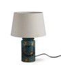 Fabuliv Cocoon White Cotton Table Lamp