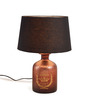 Fabuliv Vintage Black Cotton Table Lamp