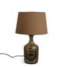 Fabuliv Vintage Alvin Black Cotton Table Lamp