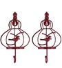 Fabuliv Red Iron Wall Hook - Set of 2