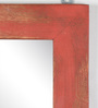 Fabuliv Red Mango Wood Wall Mounted Mirror with Shelf