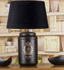 Fabuliv Stupire Black Cotton Table Lamp