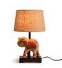 Fabuliv Beige Cotton Table Lamp