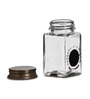 Fabuliv Transparent Square 125 ML Spice Jar with Lid - Set of 9