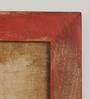 Fabuliv Vintage Distress Red Mango Wood Framed Kitchen Shelf with 1 Slab