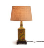 Fabuliv Vintage Beige Cotton Table Lamp