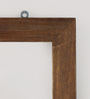 Fabuliv Walnut Mango Wood Double Framed Kitchen Shelf with 2 Slabs & Card Holders
