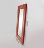 Fabuliv Walnut Mango Wood Slenna Wall Mounted Mirror