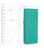 Pindia Fancy Portable Border Fabric Aqua & Pink 10-Layer Multi Utility Shoe Rack