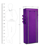 Pindia Fancy Portable Fabric Purple 10-Layer Multi Utility Shoe Rack
