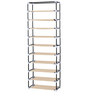 Fancy 10 Layer Portable Multipurpose Waterproof Fabric Shoe Rack in Cream Colour by YUTIRITI