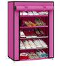 Pindia Fancy Pink 5-Layer Shoe Rack