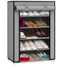 Fancy 5 Layer Shoe Rack in Grey Colour by Pindia