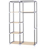 Fancy Double Door Medium Portable Multipurpose Waterproof Fabric Wardrobe in Cream by YUTIRITI