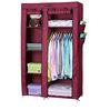 Fancy Double Door Medium Portable Multipurpose Waterproof Fabric Wardrobe in Maroon by YUTIRITI