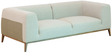 Felciano Three Seater Sofa in Sandy Brown & Platinum Grey Colour by CasaCraft