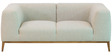 Felciano Two Seater Sofa in Sandy Brown & Platinum Grey Colour by CasaCraft