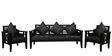 Feline (3 + 1 + 1) Seater Sofa Set in Grey Colour by RVF
