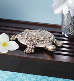 Handecor Brown Brass Tortoise Statue