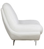 Feather One Seater Sofa in White Leatherette by Sofab