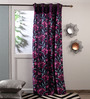 Fflaunt Purple Polyester Curtains - Set of 2