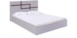Finlay Queen Bed with Hydraulic Storage in White Colour by Evok