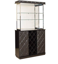 Fiddich Bar Unit in Black Colour by HomeTown
