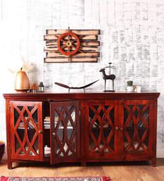 Gordon Sideboard In Honey Oak Finish By Woodsworth