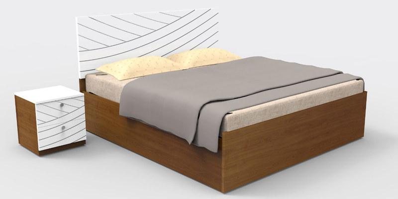 Fiesta King Bed in Matte Black Jakarta Teak Finish by Godrej Interio