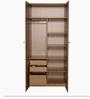 Fiesta Two Door Wardrobe in Brown Colour by Godrej Interio