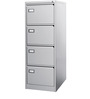 File Cabinet with Filing Pockets in Grey Colour by EuroSteel