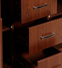 Filing cabinet in Red & Walnut Colour by Stellar