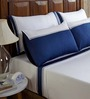 Fisher West NY Cilantro Patchwork White Cotton Abstract King Bed Sheet (with Pillow Covers) - Set of 5