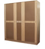 Five Door Wardrobe in Natural & White Color by Penache Furnishings