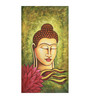 Fizdi Canvas 18 x 0.2 x 34.8 Inch Buddha with Lotus Unframed Art Painting
