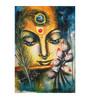 Fizdi Canvas 24 x 0.2 x 36 Inch Krishna with Flute Unframed Art Painting