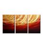 Fizdi Canvas 36 x 0.2 x 18 Inch Ambition Unframed Art Panel - Set of 3